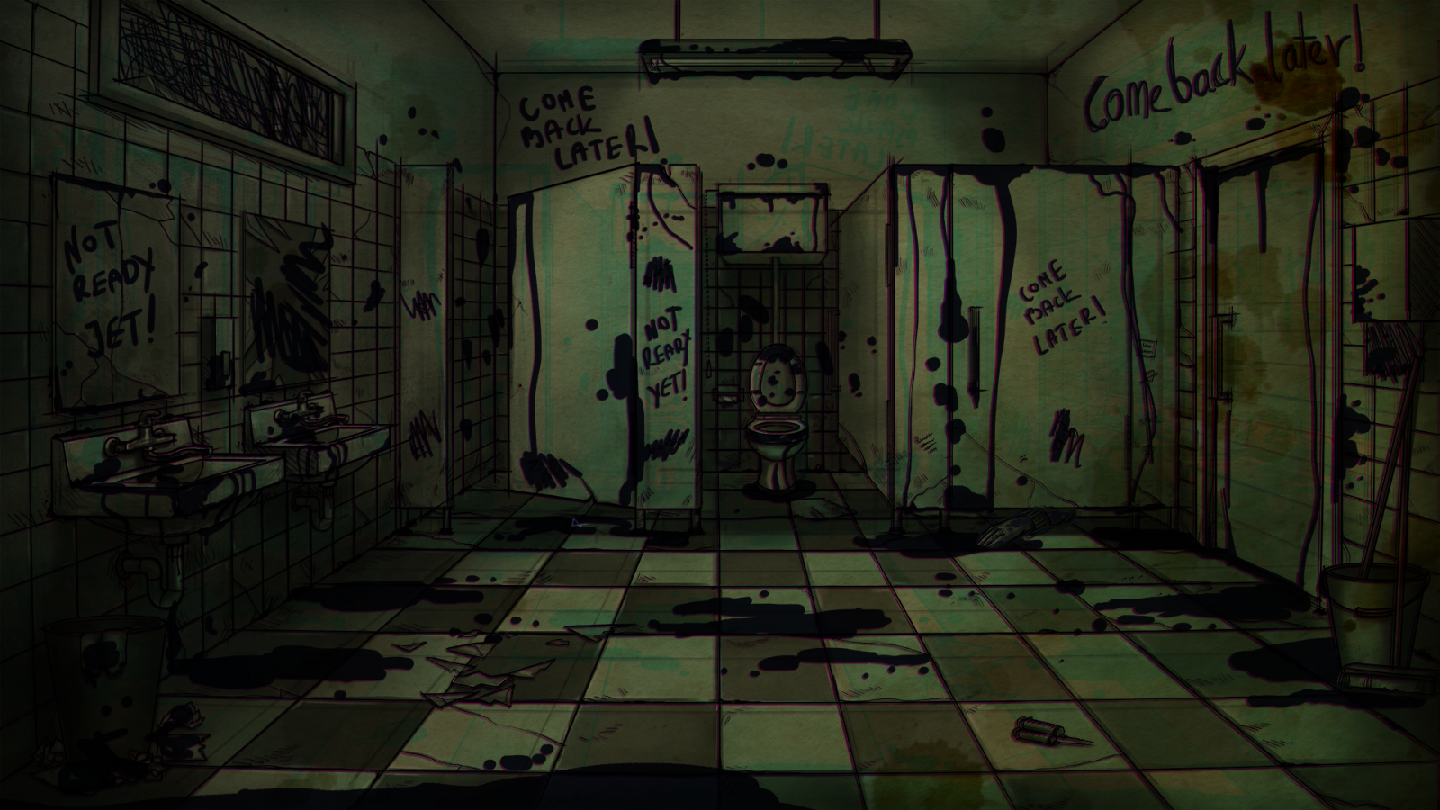 Bad Dream: Fever - School bathroom
