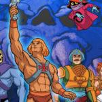 En tecknad bild på hela He-Man-gänget från originalserien.
